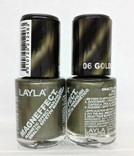 LAYLA- MAGNEFFECT Magnetic Effect 3D Nailpolish 06 GOLDEN NUGGET-NEW FROM ITALY