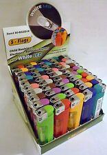10 PCS Multi Purpose Cigarette Lighter W/ White LED Slide Switch Refillable