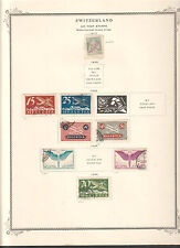 stamps Switzerland Air Post collection on Scott album pages 1919 to 1948