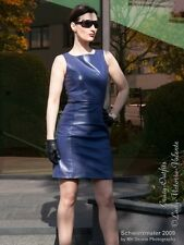Lederkleid Leder Kleid Lila Minikleid Maßanfertigung