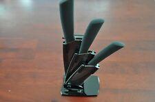 Kitchen Ceramic knife Set Cutlery Knives with holder,Ultra Sharp ,black blades