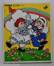 RAGGEDY ANN & ANDY Playskool Wood / Wooden PUZZLE 1987 Do the Raggedy Dance