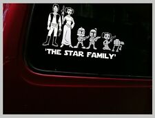 STAR WAR  NEW SCI FI FAMILIES Car sticker, bumper sticker, decal,starwars