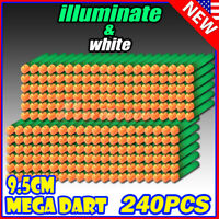 9.5cm 240PCS illuminate Refill Foam Bullet Darts For Nerf Elite Mega Centurion