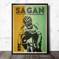Peter Sagan retro cycling poster tour de france  marcel kittel Mark Cavendish