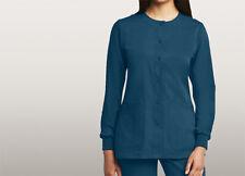 Grey's Anatomy Plus Size Snap Scrub Jacket Bahama Blue 4Xl Nwt