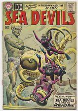SEA DEVILS #1, 1961, RUSS HEATH ART, GREY TONE COVER, VG/FN CONDITION