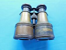 ANTIQUE BRASS BINOCULARS MARKED ARMY NAVY IN WORKING CONDITION SPY GLASS SHIP TA