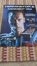 Terminator 2 Pinball Machine Flyer