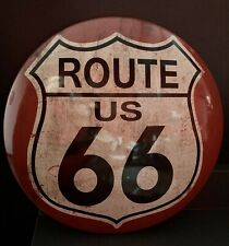 Route 66 Vintage Round Metal 15 Inch Sign