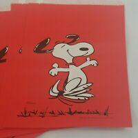 Vtg Lot of 10 Peanuts Paper Bags Snoopy Charlie Brown Hallmark Pharmacy Red NOS