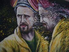 Breaking Bad 40x12 pittura ad olio non stampare AARON Paul Arte Decor telaio DISP.