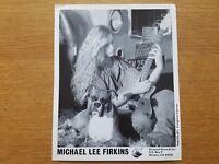 MICHAEL LEE FIRKINS 8x10 BLACK & WHITE Press Photo 1990's HARD ROCK GUITAR