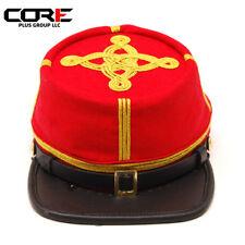 Civil War Artillery Red  3 rows Gold Braids Colonels Kepi