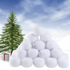 Indoor Snowball Funny Game Soft Plush Realistic Fake Snow Balls White 10pcs/set