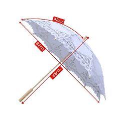 Vintage Lady Handmade Cotton Parasol Lace Sun Umbrella Bridal Wedding Umbrella