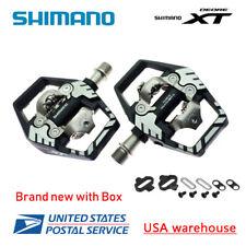 New Shimano Deore XT PD-M8120 SPD MTB Trail Pedals Clipless w/ SM-SH51 PD-M8020