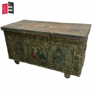 Vintage Hand Painted Indian Solid Wood Chest Storage Box (MADE TO ORDER)