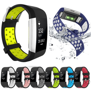 S/L Replacement Silicone Watch Band Bracelet Strap Belt For Fitbit Charge 2/2 HR