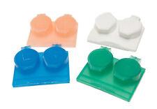 Contact Lens Travel Storage Flip Top Flat Cases Bulk Buy Box Qty 8 Mix Colours B
