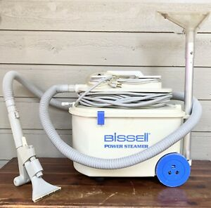 BISSELL POWER STEAMER 1631 CARPET CLEANER W/ WAND HOSES & EXTRAS WORKS GREAT