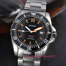 Parnis 43mm date ceramic bezel 20ATM sapphire glass Automatic men's watch 122