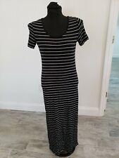 Calvin Klein Stripe Knit Scoop Neck Patch Mudi Maxi Dress Size Xs S