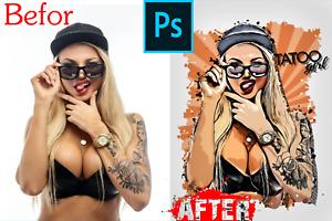 easy premium Vector Sketch Photoshop extension +Video Tutorial✔️