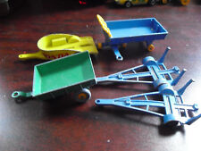Lot of 5 Vintage 1960s Lesney Matchbox Trailers with Honda Others