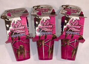 3 Realtree Xtra Colors Purple Pink Sippy Girls Childs Cups, 7oz 4 PACK Baby NEW