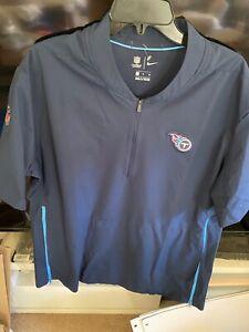 NEW Nike NFL Tennessee Titans On Field Windbreaker Pullover 1/2 Zip Men's XL