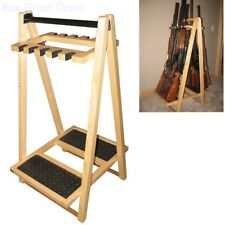 Gun Display Stand Standing Rifle Rack Floor Storage Solutions Folding Holder 10