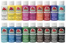 Apple Barrel Acrylic Paint Set, 18 pcs (2 oz) Assorted Colors
