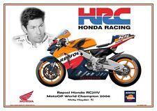 Print on Canvas Honda RC211V 2006 #69 Nicky Hayden (USA) World Champion #6/5