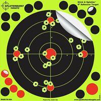 25 Pack 8 Reactive Splatter Gun Rifle Pistol Shooting Targets Glow Shot New