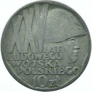 COIN / POLAND / 10 ZLOTYCH 1968 XXV LAT LUDOWEGO WOJSKA POLSKIEGO  #WT25973