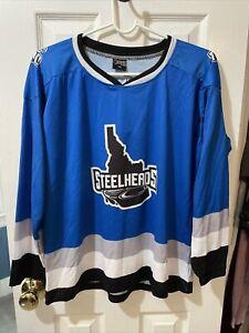 Idaho Steelheads East Coast Hockey League Boys Blue Jersey Size Small ECHL NWT