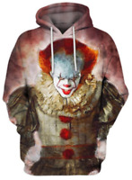 Hoodies & Sweatshirts Horror Movie It Pennywise Oversized Hoodies Sweatshirt Men Women Clown Stephen King Winter Thick Warm Zipper Hooded Jacket Coats