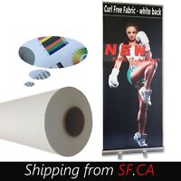 """36""""x82ft, Curl Free Fabric Banner,great for Retractable Roll Up Banner Stand"""