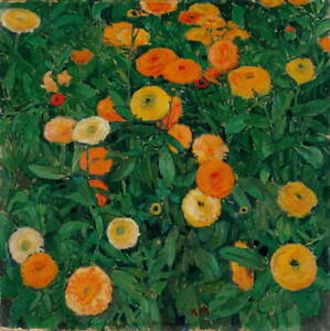 Koloman Moser Marigolds Giclee Art Paper Print Paintings Poster Reproduction