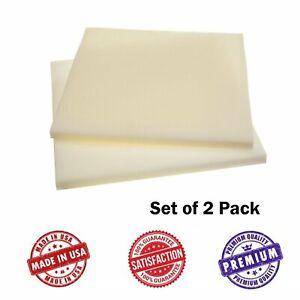 Upholstery Visco Memory Foam Square Sheets- Two Pack - 3.5 lb High Density...