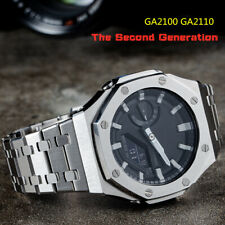 GA2100 Second Generation G Shock Bezel Watch Set 100%Metal 316L Stainless