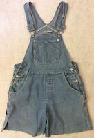 LIMITED TOO Girls Bib Overalls Shorts Sz 12 Denim Jeans Youth Cut Off Festival