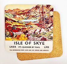Isla De Skye Antigua Ferrocarril Anuncio Corcho Base Posavasos Bebida(Se)