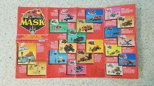 M.A.S.K. Poster Catalog Vintage 1986 Kenner