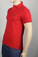 Ralph Lauren Medium M Red Mesh Polo Shirt Classic Fit Navy Pony NWT