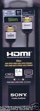 Sony HDMI DLC-HE10S High Speed Cable 4K/3D/Ethernet, 6.4 foot/2 Mtr PS3 & Blu-R