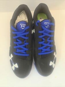 Black Under Armour Charged Metal Baseball Cleats Men's Size 10.5 Authentic