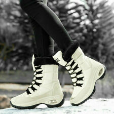 Womens Winter Warm Fur Lined Mid Calf Boots Trainers Sneakers Ladies Shoes Size