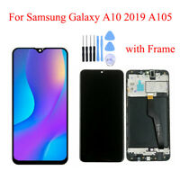 For Samsung Galaxy A10 2019 A105 A105F LCD Display Touch Screen Digitizer Frame
